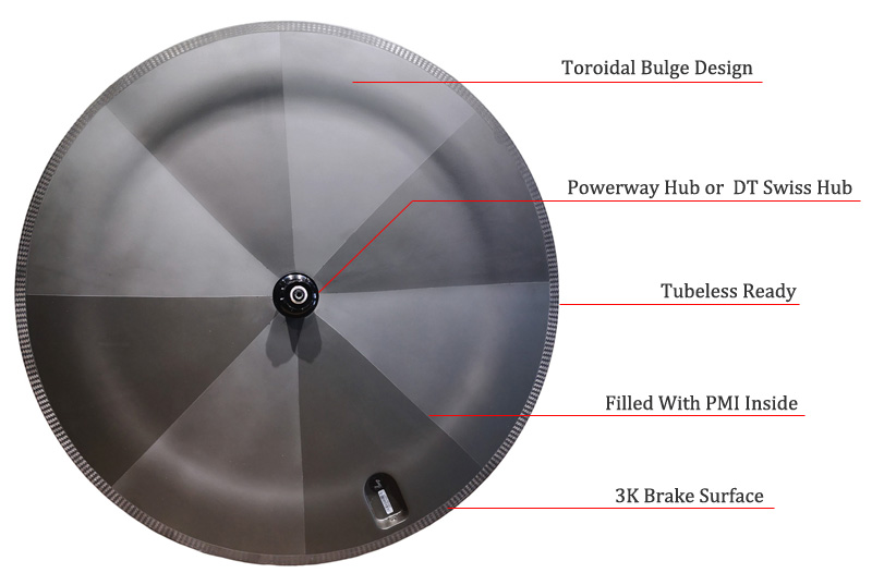 full disc carbon wheel